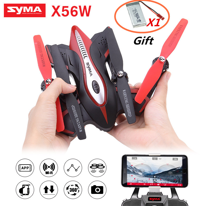 SYMA Newest X56W Foldable Mini Drone  Pocket Rc Quadcopter One-key landing take off Wifi FPV jjr c jjrc h43wh h43 selfie elfie wifi fpv with hd camera altitude hold headless mode foldable arm rc quadcopter drone h37 mini