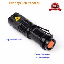 SANYI Mini penlight 1000LM Waterproof LED Flashlight 1Mode zoomable Adjustable Focus Lantern Portable Light use AA/14500 battery