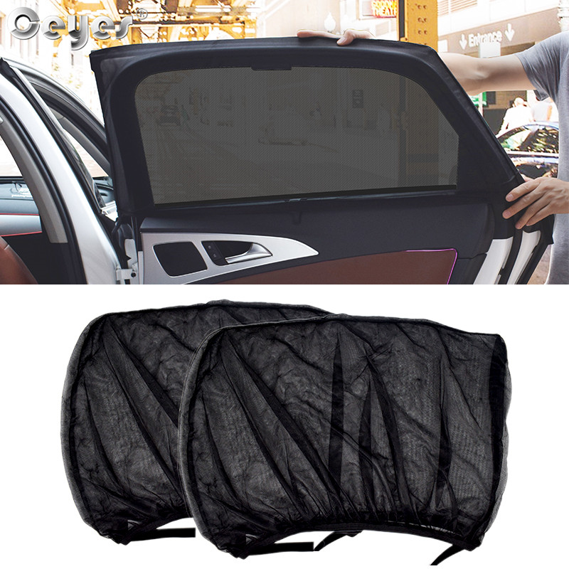Ceye 2 قطعة اكسسوارات السيارات التصميم الشمس الظل السيارات UV حماية الستار نافذة جانبية ظلة شبكة الشمس قناع حماية نافذة الأفلام
