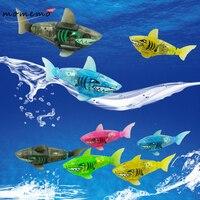 5 Stks Babybadkamer Speelgoed Zwemmen Vis Activated Batterij Aangedreven Shark/Piranha Robot Vis voor Babybadkamer Speelgoed Sturen door Willekeurige