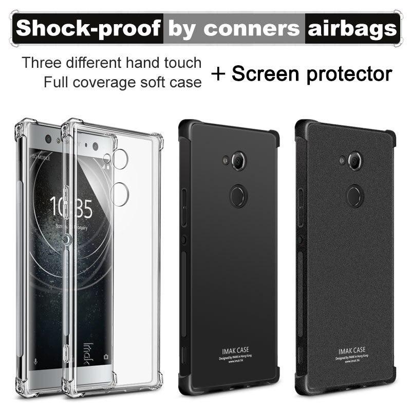 IMAK sFor Sony Xperia XA2 Case sFor Sony Xperia XA2 Ultra Case Silicon ShockProof Series Soft TPU Case For Sony XA2 /XA2 Ultra