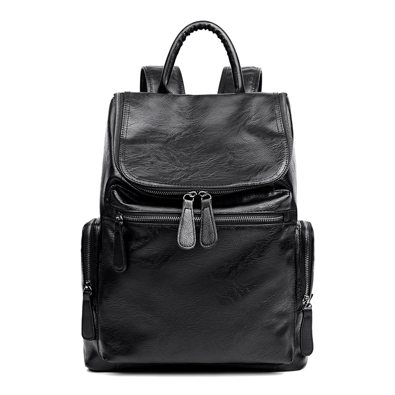 Fashion Men Backpack Soft Leather Teenager School Bags Casual Travel Bag Laptop Backpack High Quality Man Backpack Shoulder BagFashion Men Backpack Soft Leather Teenager School Bags Casual Travel Bag Laptop Backpack High Quality Man Backpack Shoulder Bag