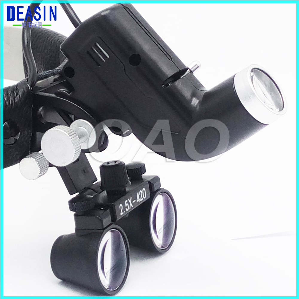 Good quality 2.5X Operation lamp surgical headlight Dental Loupes Medical Magnifier Dental Loupes 2018 good quality adjustable dental surgical headlight led headlamp black medical lab equipments