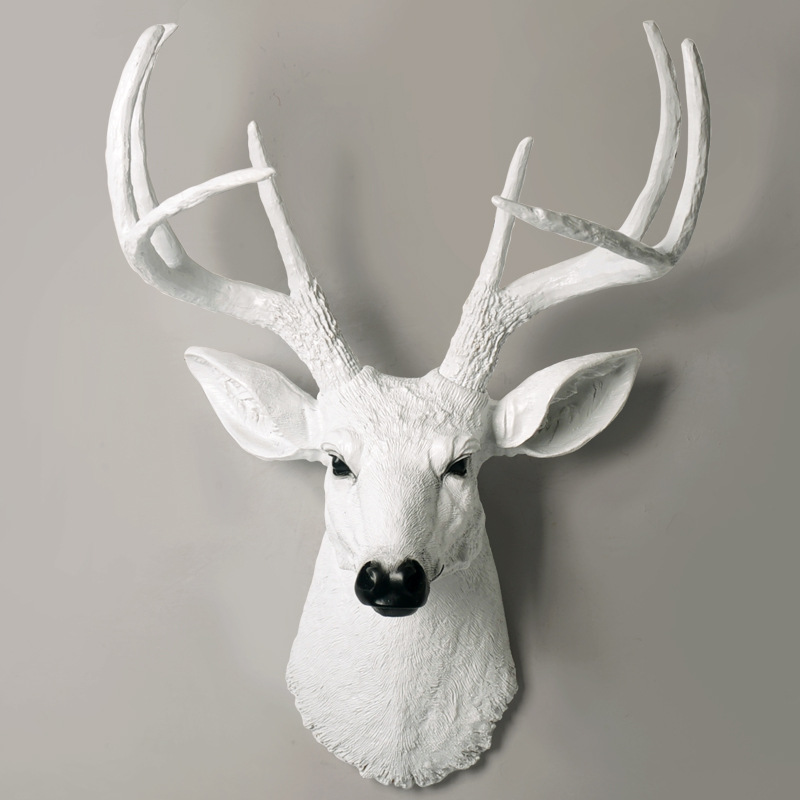 Hot Sale Animal Head Head Sculpture Wall Hanging Statue Decor Home Decoration Accessories Deer Head Abstract Sculpture