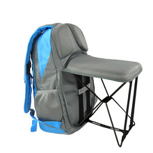 47L Outdoor Fishing Backpack Hiking Camping Trekking Travel Shoulder Multi-functional Large Capacity Bag Folding Chairs
