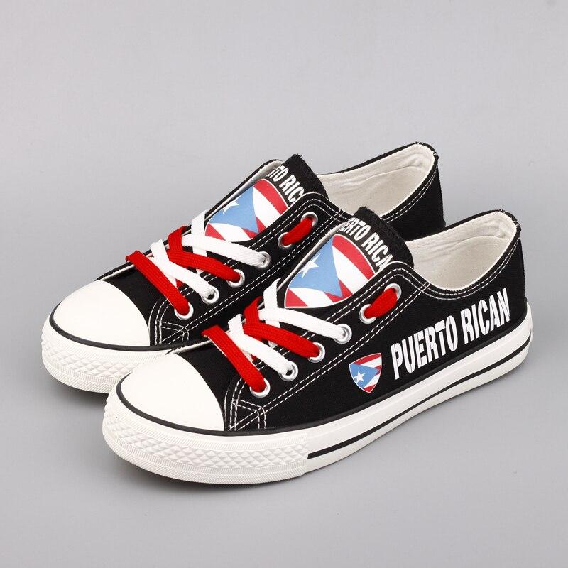 E-LOV Dernière Conception Toile Chaussures For Puerto Rican Imprimer Puerto Rico Drapeau Casual Marche Chaussures Hommes Plus La Taille Zapatos Hombre