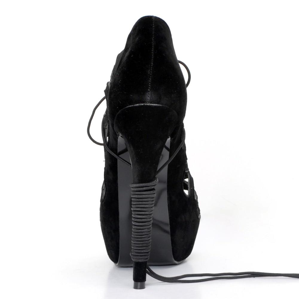 Nous Bout Élégant Xd188 Belle Initiale Ouvert Sandales Plus 4 Noir Taille 15 Populaire Minces Femmes Femme Talons Chaussures L'intention qXF6x