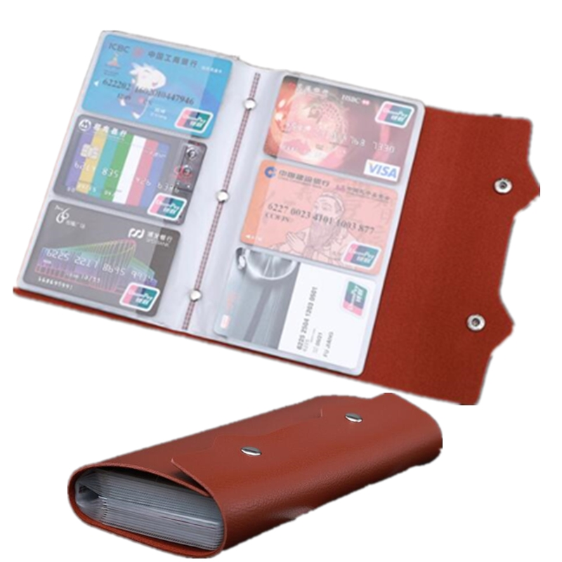 108 Slots Big Capacity women men's leather credit card holder cases Name Bussiness Blank ID Card Purse an Wallet Bags Bags bovis 5102 02 casual man s pu credit name card wallet slots coffee