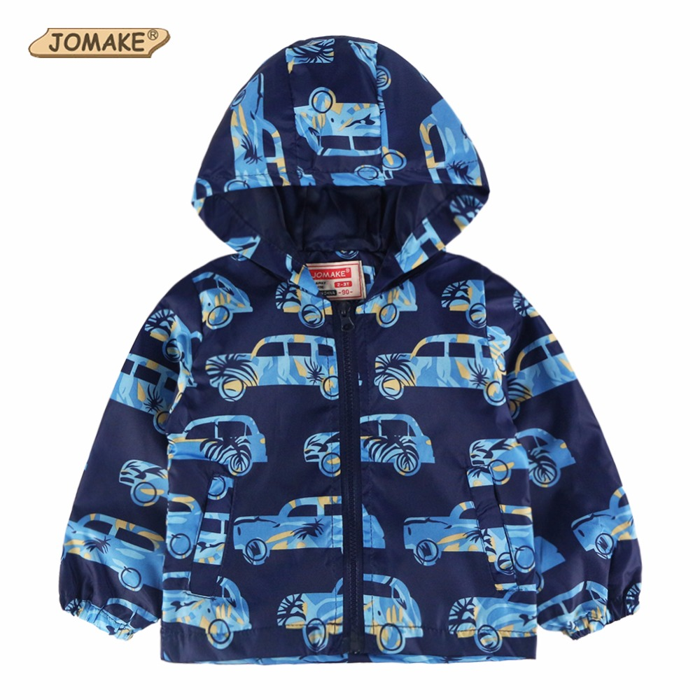 2-8T Children Toddler Boy Clothing 2017 Summer Windproof Cartoon Car Baby Costume For Kids Outerwear & Coats Jacket Boys Clothes