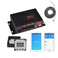 10A 12V APP Bluetooth MPPT Solar Charge Controller Panel Battery Intelligent Regulator for RV Boat Car PV Solar Panel Kit