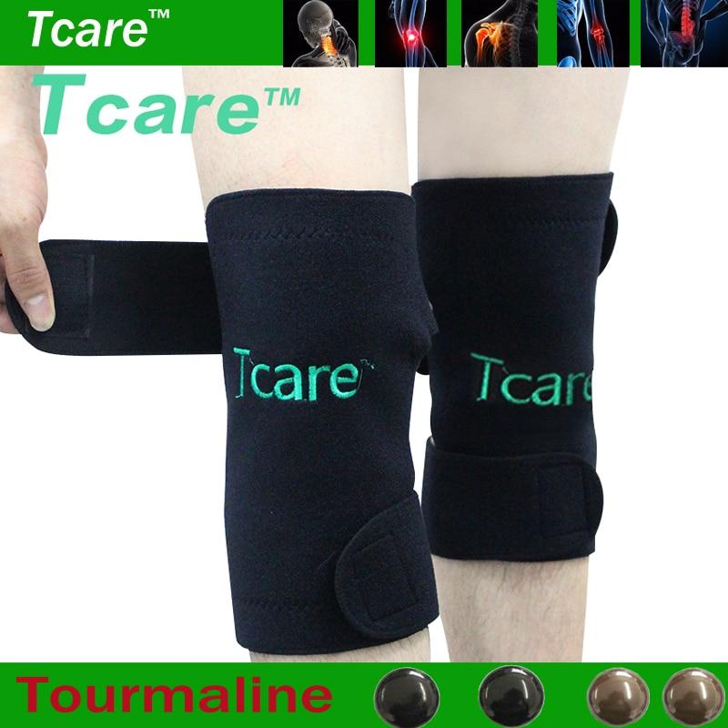Tcare 1Pair Turmalin Självuppvärmning Knä Leggings Brace Support Magnetisk Terapi Knäskydd Justerbar Knämassagerare Sjukvård
