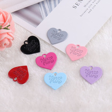 10pcs Spray Painted Candy Heart  Alloy Enamel Charms Bracelets DIY Design Pendant For Earring Jewelry Accessories YZ437