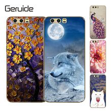 Geruide Honor 9 Case Cover, Printing Soft Silicon TPU Back Phone Cover for Huawei honor Premium