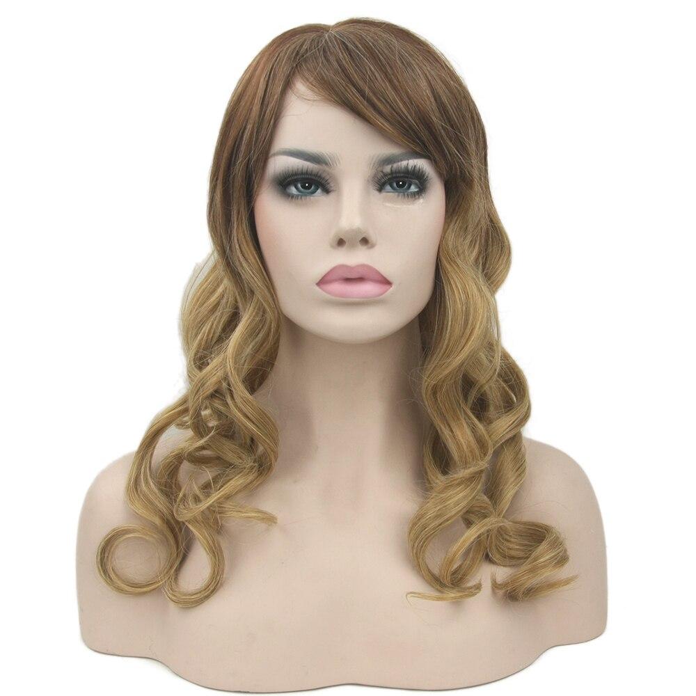 Soowee cabelo sintético longo encaracolado cosplay perucas