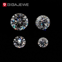 GIGAJEWE 0.8ct 3.5mm 6mm GH Color Round Cut Moissanite Stone DIY Gem Charms DIY Beads For Jewelry Making Fashion Girlfriend Gift