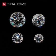 GIGAJEWE EF Color 0,8 CT 6mm VVS1 ronda excelente corte moissanita piedra suelta prueba de diamante pasado laboratorio gema para la fabricación de joyas