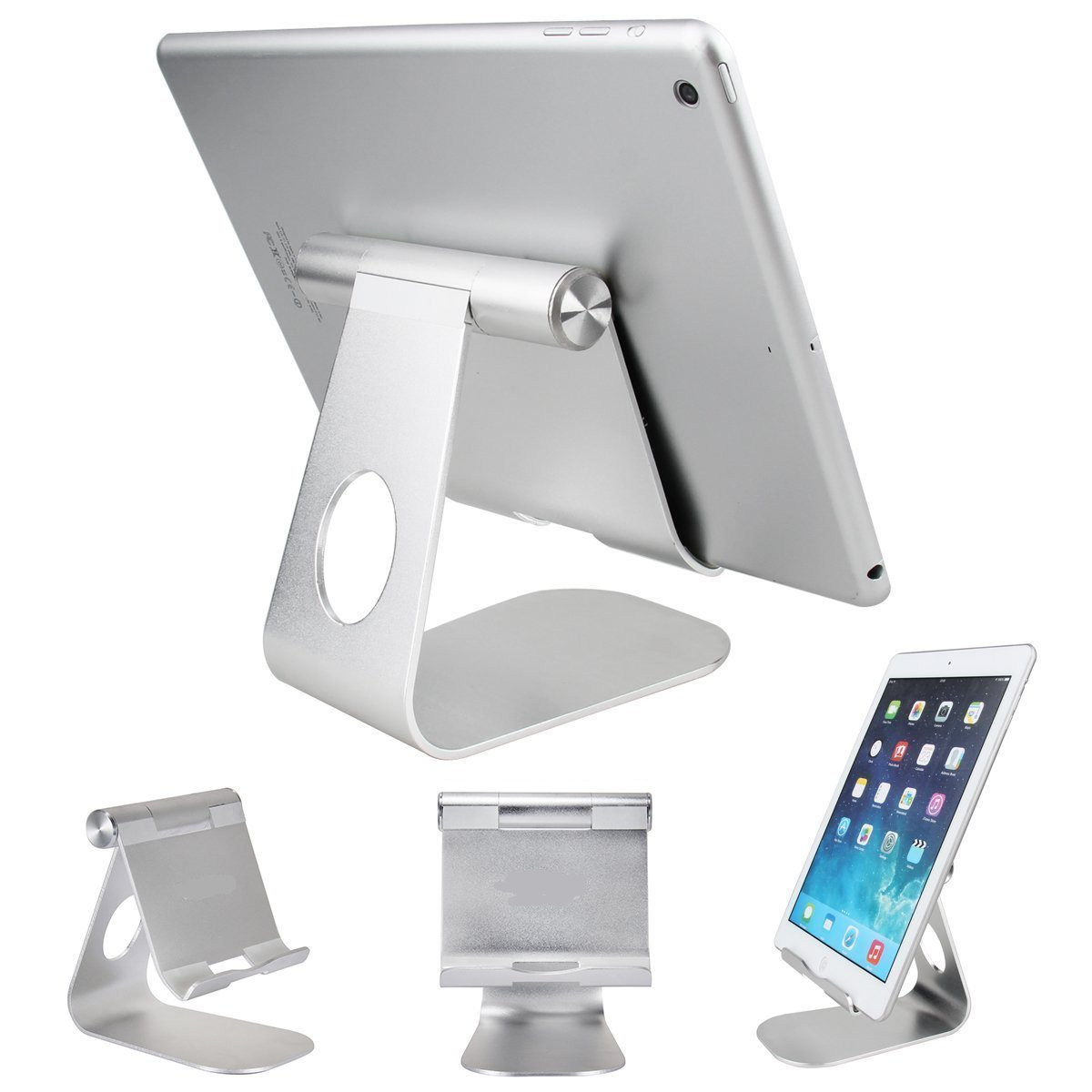 2017 Multi-Angle Portable Aluminum Tablet Stand Holder for iPad Pro mini Samsung Huawei T1 701u kindle E-readers Smartphones