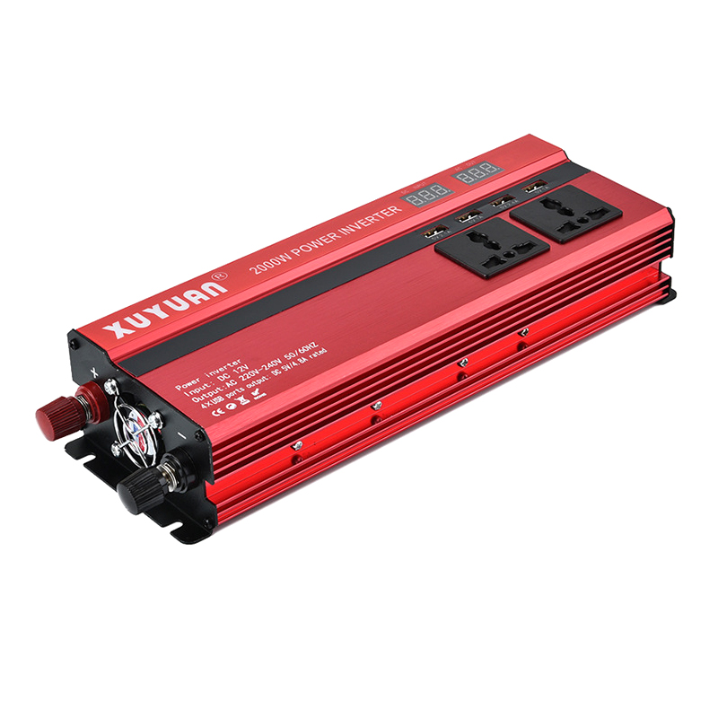 Car <font><b>Inverter</b></font> 12V/<font><b>24V</b></font> <font><b>220V</b></font> DC-AC Sine Wave Solar <font><b>Inverter</b></font> 12V-<font><b>220V</b></font> Converter Voltage Converter Transformer Adapter Charger <font><b>2000W</b></font> image