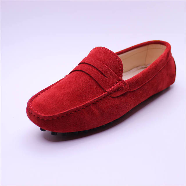 2017 spring new arrival fashion women's authentic cowhide leather flat  loafer casual drivers walking travelling shoes 003