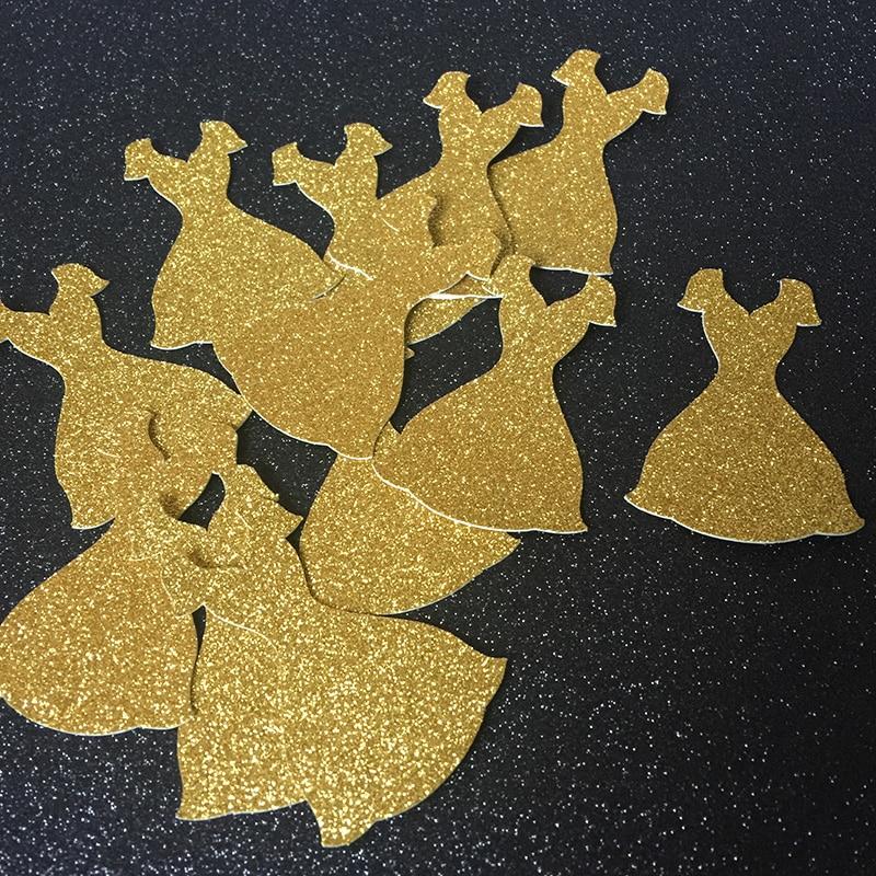 Aur / argint / negru rochie Glitter Confetti pentru bridal Showr - Produse pentru sărbători și petreceri