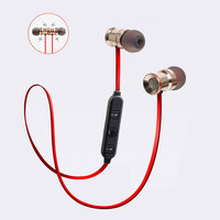 Metal Bluetooth In Ear Earphone Magnetic Wireless Blutooth Stereo Micro Earpiece Headphone For Mobile Phone Samsung