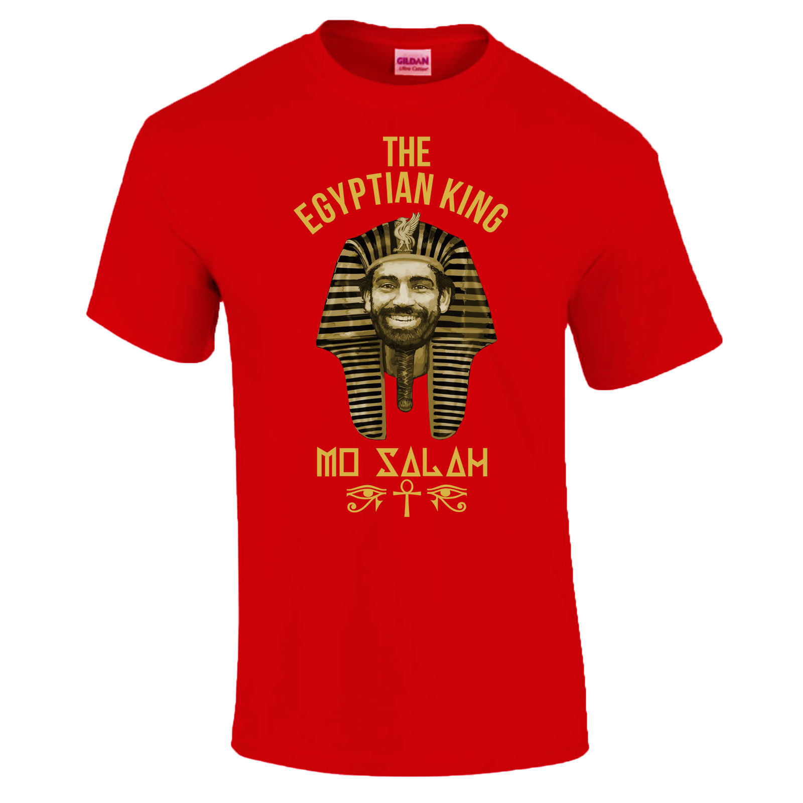 Mo Salah 11 Egyptian King Egypt Pharaoh Gift Made In Liverpool T-Shirt S - 13050ca4e