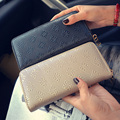 New Pu Women Fashion Long Wallet Casual  Diamond Lattice Zipper Purse Luxury Plaid Clutches Simple Billfold Female Money Clip