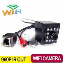 960 P мини IP камера wi-fi 940nm из светодиодов аудио IP камера беспроводная IP с внешнего микрофона P2P ONVIF камера ip-wi-fi