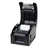 Free shipping usb 20 82mm USB port Thermal Qr code label printer Thermal barcode printer receipt printer wholesale POS printer