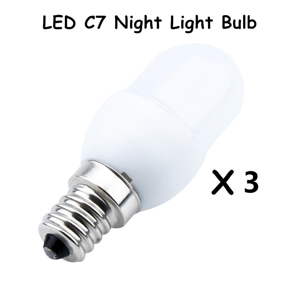 C7 Led Bulb >> Us 11 3 Led C7 Night Light Bulbs 0 5 Watt 7w 10w Replacement Incandescent Bulb 20lm E12 Candelabra Base Bulb 110v Led Night Lamp In Led Bulbs