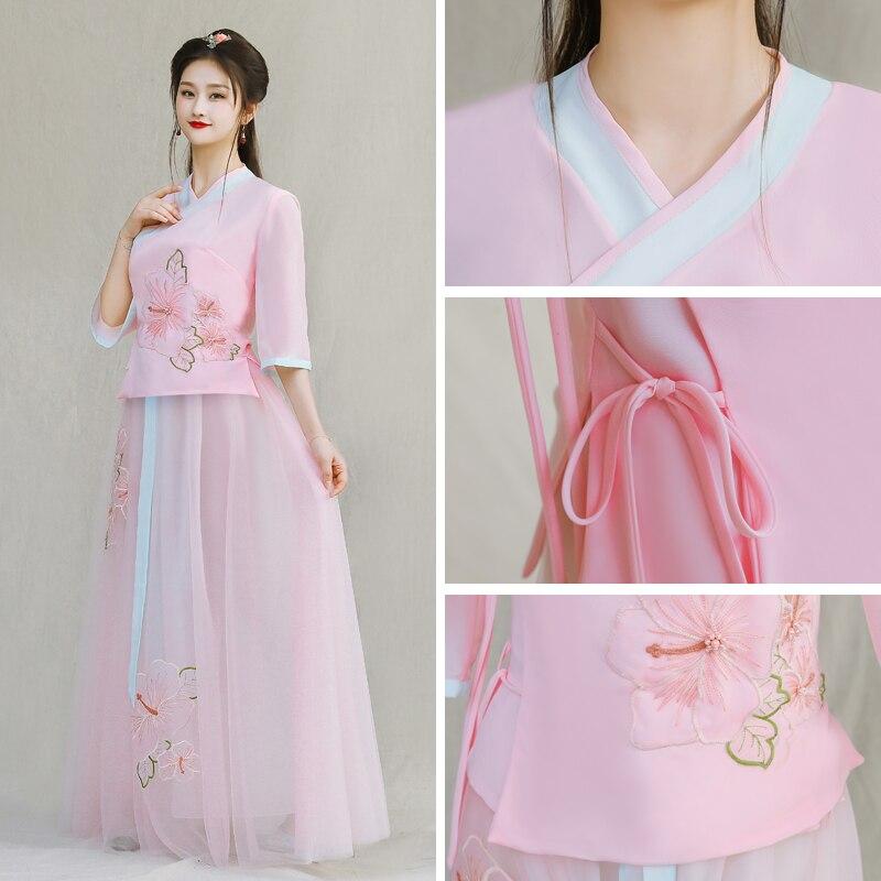 Vestidos Filha da mãe Vestido de Noiva Chinês Moda Desgin New Mommy and Me Roupas para a Família Roupas Combinando Vestidos de Rosa - 5