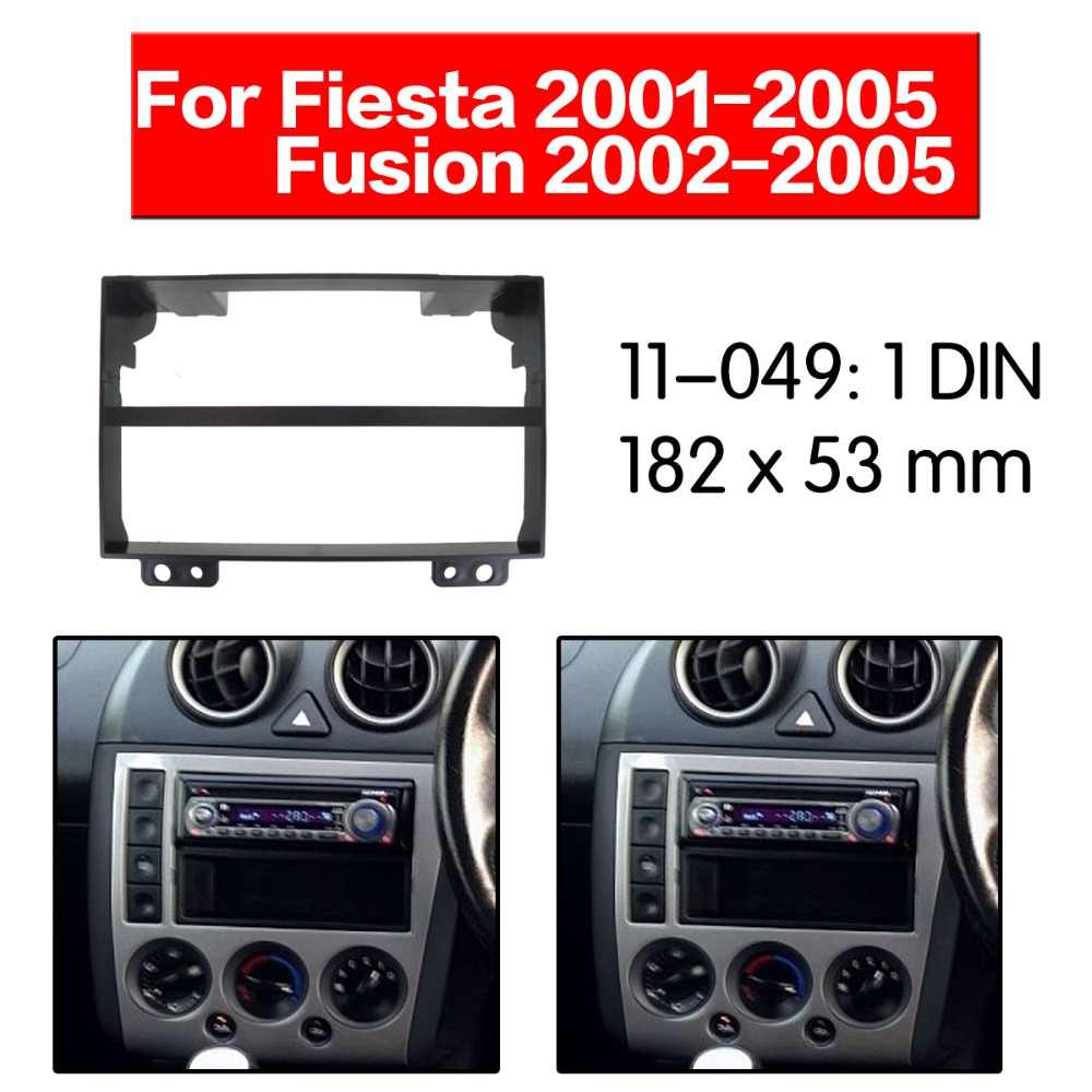CT24FD55 FORD FIESTA 2005 to 2008 ANTHRACITE SINGLE DIN FASCIA WITH POCKET