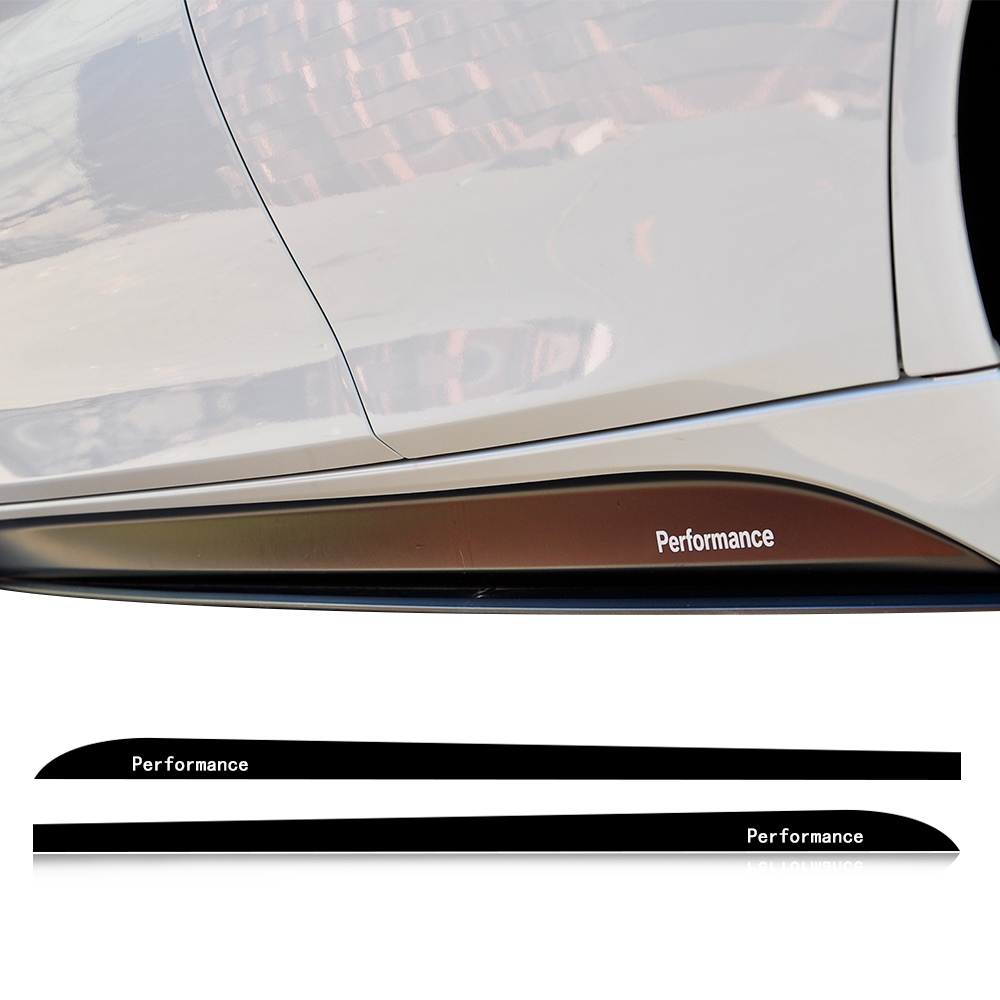 2.05/2.15/2.3M M SPORT Performance Side Stripe Skirt Sill Decal Car Sticker for BMW F30 F10 F11 F01 E60 E61 E90 E91 G30 F34 F15 button side stripe pencil skirt