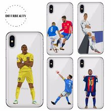 845590e5ef Soccer Football Case For iPhone X DIFFRBEAUTY Ronaldo Soft TPU Hazard Phone  Cover for iPhone 5s se 6s 7 8 plus Case Capa Cover