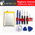 Elephone Vowney Battery 4000mAh 100% Original New Replacement accessory accumulators For Elephone Vowney Lite Cell Phone