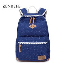 ZENBEFE Women S Canvas Bags Fashion Women S Backpack Capacity Travel Bag Backpacks For Laptop Lovely