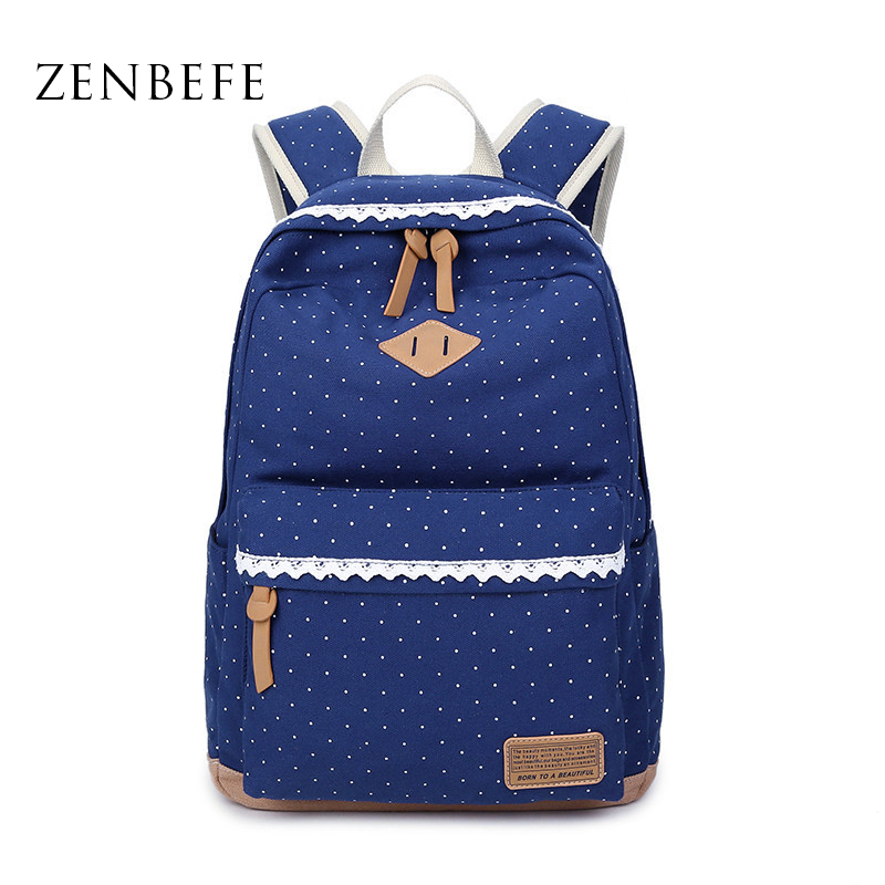 ZENBEFE Women S Canvas Bags Fashion Women S font b Backpack b font Capacity Travel Bag
