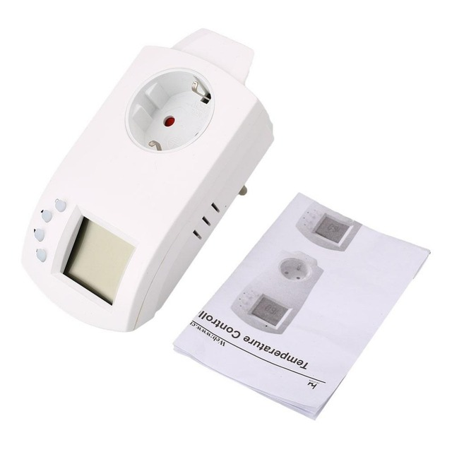 Intelligent Digital EU Plug Thermostat Temperature Controller Regulator Outlet Electric Heating Wireless Hydroponic HY02-TH