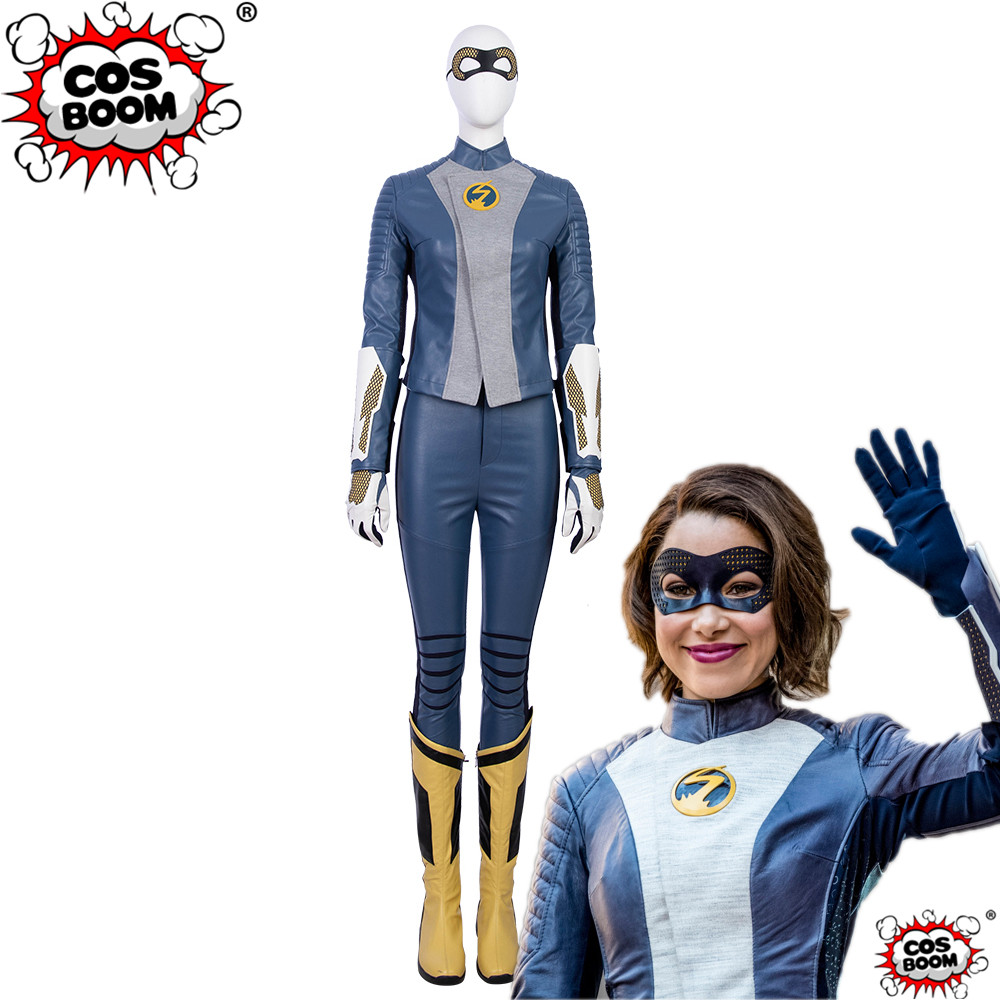 COSBOOM The Flash Season 5 Nora Allen Costume Adult Women Halloween Carnival Superhero The Flash Fancy Cosplay Costume