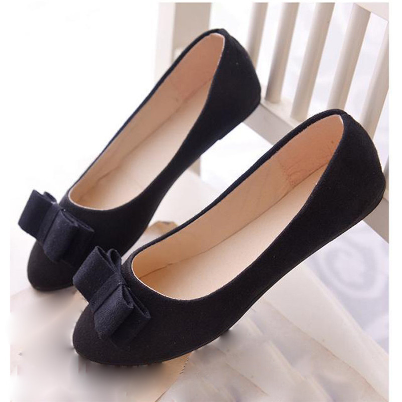 Women Ballet Shoes Work Flats Bow Tie Slip Shoes Boat Comfortable Shoes пижама mia mia crystal бирюзовый l