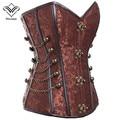 Wechery corpete corset steampunk gótico corselet mulheres sexy espartilhos e corpetes magro espartilho osso de aço plus size busiter s-6xl