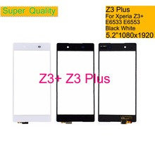Touchscreen For Sony Xperia Z3 Plus Z4 E6533 E6553 Touch Screen Digitizer Front Outer Glass Touch Panel Sensor Lens NO LCD white color lcd display touch glass digitizer assembly for sony xperia z4 e6533 e6553 z3 replacement free shipping