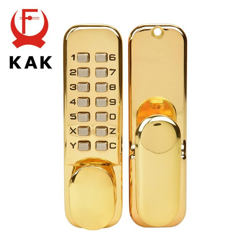 KAK Zinc Alloy Keyless Door Lock Mechanical Combination Lock Safety Door Lock Code Lock for Home Handle Door Hardware 3 Color