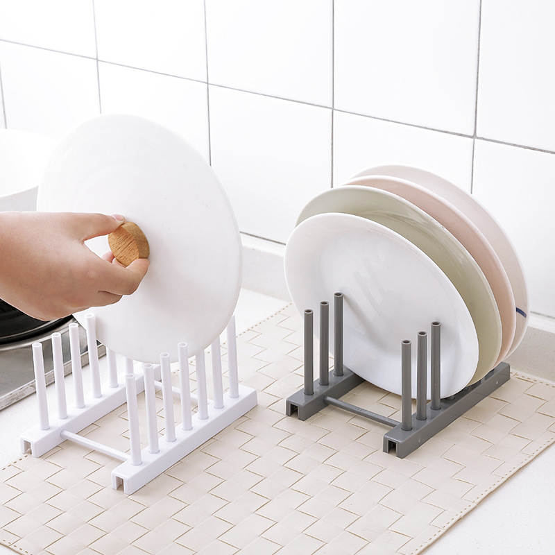 New Under Sink bowl plate dish drainer rack plastic BOOK Pot lid cover Holder storage shelf for kitchen Organizer accessories 1