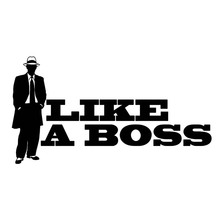 Applique Like A Boss Vinyl Sticker Fun Personality Decorative Accessories Funny Characters