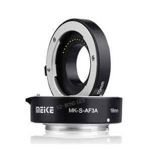 Image 4 - Meike MK S AF3A Metal Auto Focus Macro Extension Tube 10mm 16mm for Sony Mirrorless a6300 a6000 a7 a7SII NEX E Mount Camera