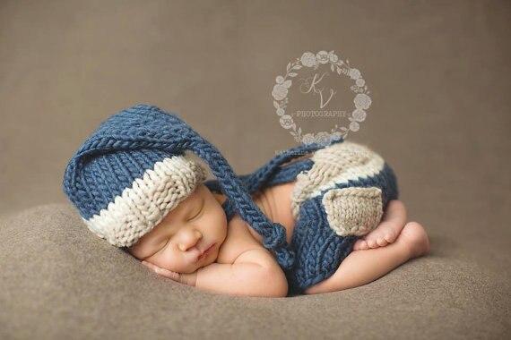 Neugeborenen Häkeln Baby Kostüm Fotografie Requisiten Stricken