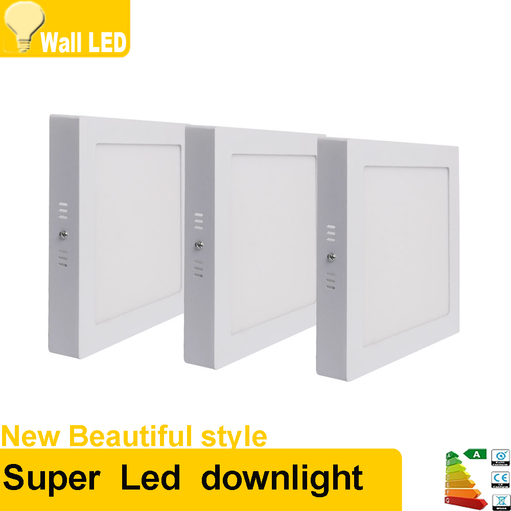 High quality with cheap price led panel light 36w 600x600 ac85 265v - 10pcs 6w 12w 18w 24w Led Panel Lights Square Surface Mounted Downlight Lighting Smd2835 Ac85