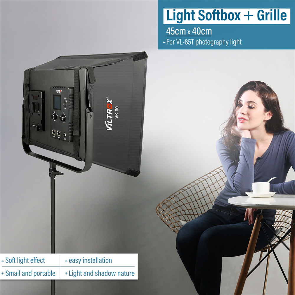 Camera & Photo Accessories Viltrox Vk-60 Led Light Softbox Fold Outdoor Reflector Umbrella Diffuser+carrying Bag For Viltrox Vl-40t Vl-50t/b Vl-60t Vl-85t Consumer Electronics