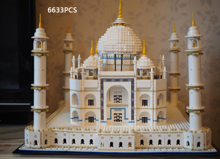 Reissue All new world famous Architecture Taj Mahal India model building block 10189 toys collection new mini diamond building block world famous places architecture 3d russia saint basil s cathedral model nanoblock for kid gift